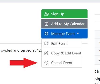 Delete/Cancel Event