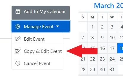 Copy Event Tab
