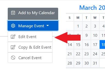 Edit Event Tab