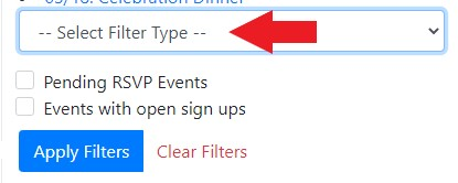 Select Event Filter